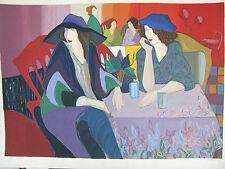 "ISRAELI ART - PATRICIA- TWO WOMEN - Silkscreen - L/E - A.P - 41"" x 31""- Colorful"