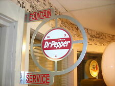 DR. PEPPER NOSTALGIC VINTAGE ERA  WALL FLANGE ADVERTISING SIGN