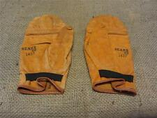 RARE Vintage Sears Leather Boxing Sparring Gloves > Antique Old Box Bag 8287