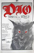 "RONNIE JAMES DIO ""THROW 'EM TO THE WOLVES TOUR"" 1991 DENVER CONCERT POSTER"