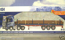 CORGI 1/50 MERCEDES-BENZ ACTROS F/BED TRLR & STEEL LOAD INTAKE TRANSPORT CC13829