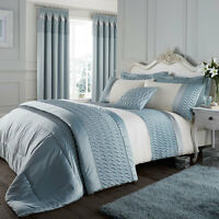 Catherine Lansfield Signature Quilted Luxury Satin Single Duvet Cover Set