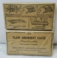 Vintage U.S. MILITARY Vietnam First Aid Field Medical Supplies Guaze SEALED Lot