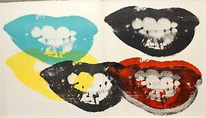 Andy Warhol 'Marilyn's Lips '64 original litho from one cent life portfolio mint
