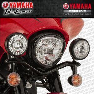 NEW 2010 - 2016 YAMAHA XVS V-STAR 1300 LED MIDNIGHT PASSING LAMPS W/ MOUNTS KIT