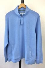 Tommy Bahama Men's 1/4 Zip Blue Pullover Sweater Size XL Long Sleeves Soft
