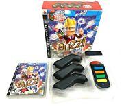 Buzz Quiz TV Big Box PlayStation 2 3 PS3 PS2 Complete CIB 4 Buzzers Dongle