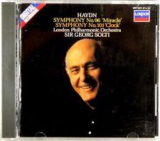 LONDON DIGITAL CD W. GERMANY Haydn SOLTI Sym #96 & #101 FULL SILVER 417 521-2
