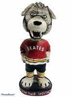 "2005 CHICAGO WOLVES MASCOT ""SKATES the WOLF"" RARE ECHL HOCKEY BOBBLEHEAD KNIGHTS"