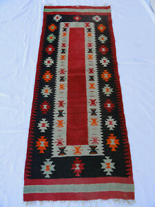"""Antique Navajo Rug Native American Style Blanket Indian 76"""" X 30"""" B2-23"""