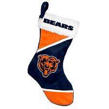 "Chicago Bears Holiday 17"" Christmas Stocking Team Logo New for 2014"