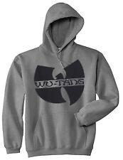 BLACK Logo Wu Tang Clan HOODIE Hardcore Hip Hop Unisex Hoodied Sweatshirt S-5XL
