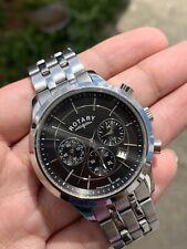 Rotary Men's GB03633/04 Black Chronograph Bracelet Swiss Watch RRP £229