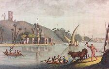 Mosquée d' Abou Mandour 1814 Egypte aquatinte