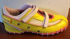 Vintage  Girls DIESEL Yellow/Pink Leather Casual Sneakers NIB  Toddlers SZ 5