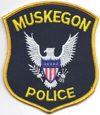 **MUSKEGON MICHIGAN POLICE PATCH**