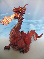 FIGURINE COLLECTION PAPO CHEVALIER CHEVAL DRAGON ROUGE 1999 -69
