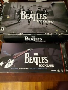 PS3 The Beatles Rock Band (Missing Guitar) AND Wireless Guitar Controller 🎸