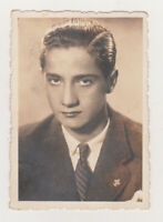 Super Cute Affectionate Handsome Young Man Nice Eyes Gay Int Vintage Old Photo