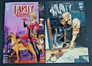 DC BATMAN :WHITE KNIGHT HARLEY QUINN # 2 CVR A AND # 3 CVR A TWO BOOK LOT