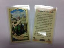HOLY PRAYER CARDS FOR THE PRAYER TO SAINT LUKE SET OF 2 IN ENGLISH