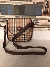 Vintage Burberrys Small Crossbody Bag Nova Check Coated Canvas