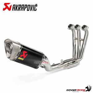 Akrapovic full exhaust system racing carbon fibre for Yamaha MT09 / FZ09 2021>