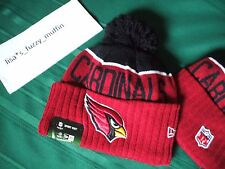 Arizona Cardinals New Era knit pom hat beanie On Field NWT AUTHENTIC !! 2015 -16