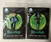 Rick & Morty Vance-Supernova 2018 NYCC Collectible Lapel Pin Set Limited Edition