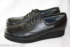 PW Minor Orthotic Orthopedic Oxford Shoes Women 7.5 Narrow Extra Depth Black