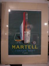 Original Vintage 1955 Advertisement mounted ready to frame Martell Cordon Bleu