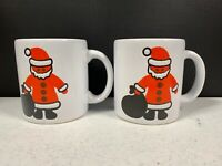 Waechtersbach West Germany Christmas Santa Coffee Mug Cup Pair