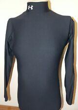 Men's Under Armour Compression Mock Neck Thermal Shirt Large Black