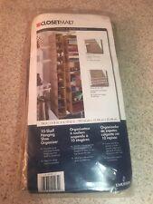 (L) ClosetMaid 10-Shelf Hanging Organizer in Mocha free US Shipping