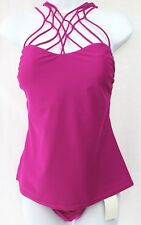 ISLAND ESCAPE Tankini & Bikini 2-PC Set Size 10  Strappy Racerback Plum  NWT $80