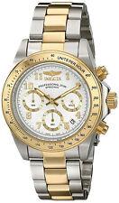 Reloj Invicta Hombre Plata Oro Crystal Gold Silver Man Watch Bracelet Pulsera