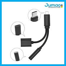 Câble Adaptateur Type C prise jack 3.5mm Noir chargeur pour Nokia 9 PureView