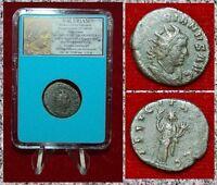 Roman Empire Coin VALERIAN I Felicitas Holding Caduceus Cornucopiae Antoninianus