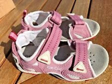 Geox Pink/White Sandals Leather/Canvas and Mesh NEW Little Girls Size 9 On SALE!