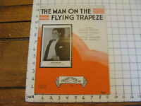 Vintage sheet music: THE MAN ON THE FLYING TRAPEZE, 1935