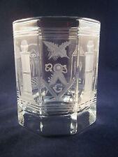 WHISKY GLAS handgraviert m. Freimaurermotiv Freemason