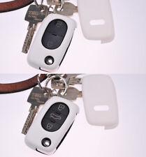 Klapp Schlüssel Hülle Cover Weiß f. AUDI A4 B6 A3 8L A6 C5 A2 KEY FOB CASE