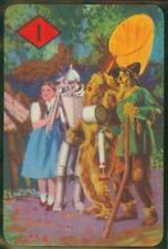 Wizard of Oz anniversaire Card-Dorothy tin on Scarecrow Toto