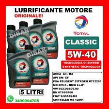 OLIO MOTORE TOTAL CLASSIC 5W40 ACEA A3/B4 API SL/CF BENZINA E DIESEL 5 LITRI