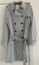 Ladies GAP Lined Raincoat Blue and White Pin Stripe Size Large - BNWT