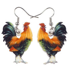 Acrylic Chicken Rooster Pattern Earring Dangle Fashion Pet Jewelry For Women Kid