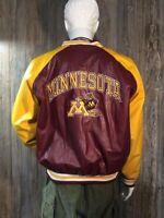 Vintage L Steve & Barry Minnesota Golden Gophers Gold & Maroon Varsity Jacket J4