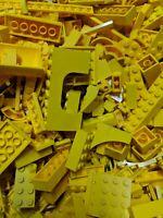 2 Pounds LEGO Bulk Lot yellow Bricks Plates Parts Building mix pieces lbs