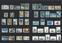 Australian Antarctic Territory AAT Stamps 1957-1980 Complete Sets 52 Values MUH
