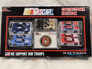 Racing Champions 5 1/64 Cars NASCAR 1991 We Support Our Troops NIB Army Navy